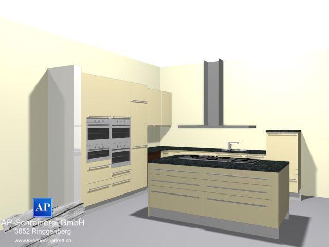 Küchenplanung, Offerte, 3D Küchenvisualierung