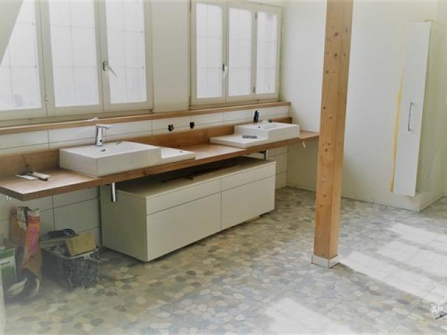 Badezimmermöbel, Eiche Natur, Schweizer Holz
