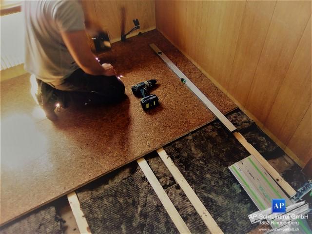 Bodenaufbau, Renovation, Altbau, Flumroc Futuro, Isolation
